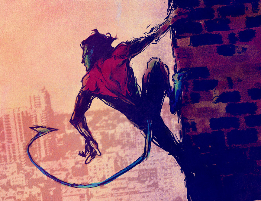 comic-books:  Nightcrawler sketch by Irene Flores. November, 2011.