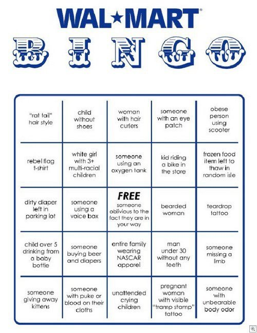 Who wants to play Walmart bingo?!