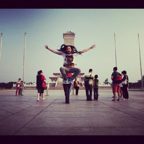 #aokijump #21 tiananmen square Beijing china looking for the spot where guy blocked tanks part 1 (Taken with instagram)