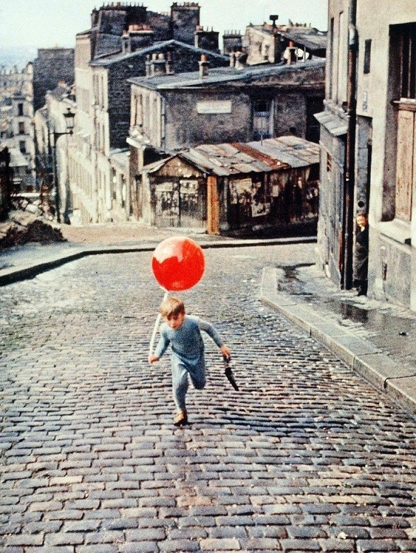 Pascal Lamorisse in The Red Balloon (1956, dir. Albert Lamorisse) (via)  When I was a kid, it seems like we saw this at school once a year. If you haven't seen it, treat yourself here - it's just over a half hour long.