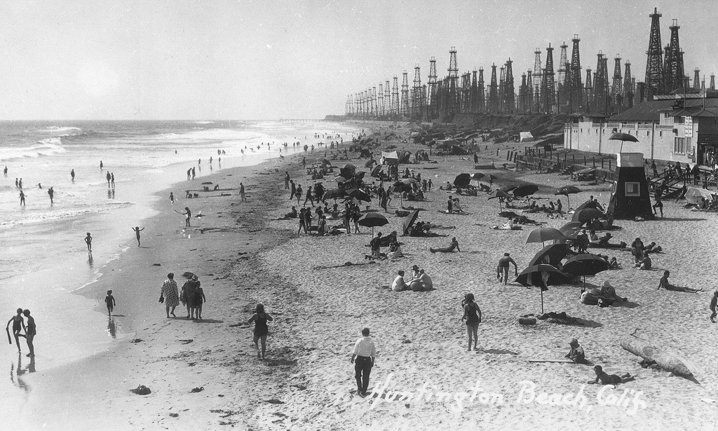 View from the Huntington Beach pier, date unknown.