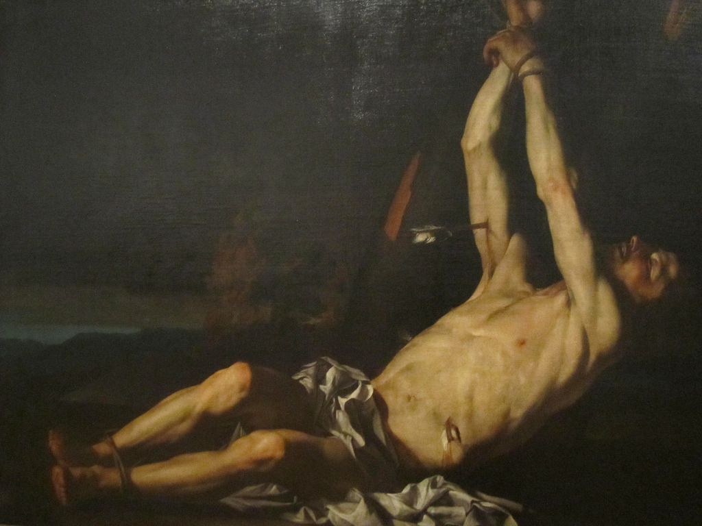 necspenecmetu:  Francesco Guarino, Saint Sebastian, 17th century