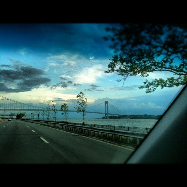 Going home #verrazano #beltparkway #brooklyn #road (Taken with instagram)