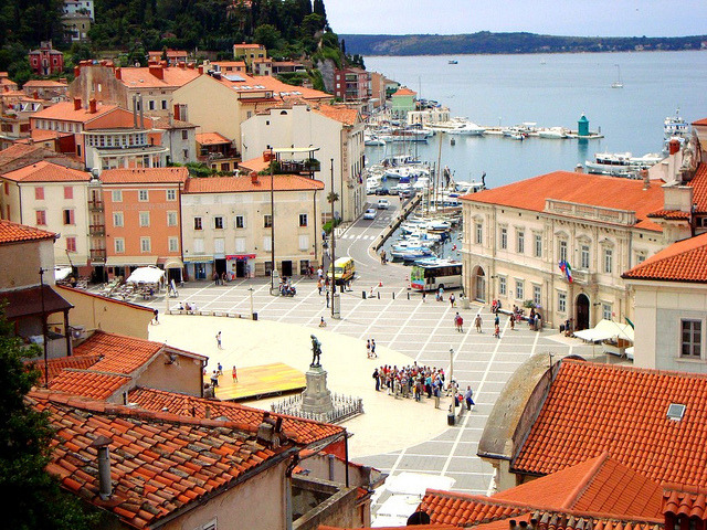 | ♕ |  Tartini Square - Piran, Slovenia  | by © Ferry Vermeer