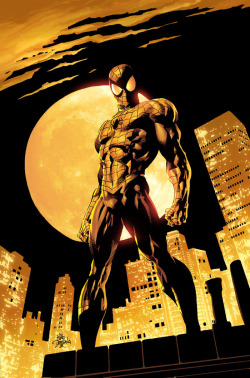 Artwork for cover of the Amazing Spider-Man #528. March, 2010. Art by Mike Deodato Jr.