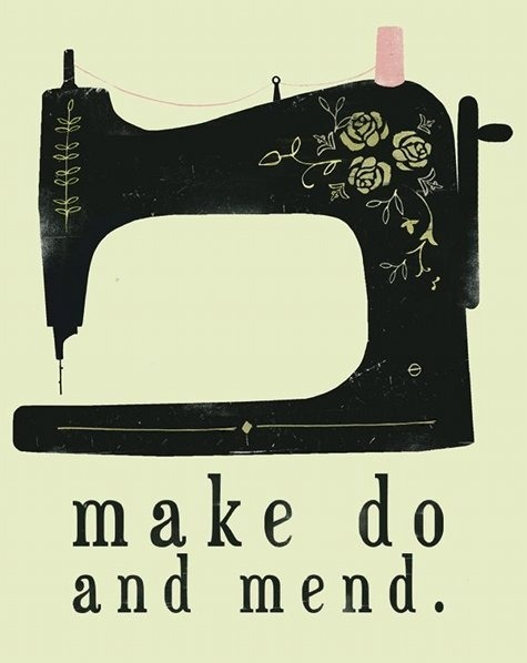 Make Do and Mend illustration by Clare Owen.