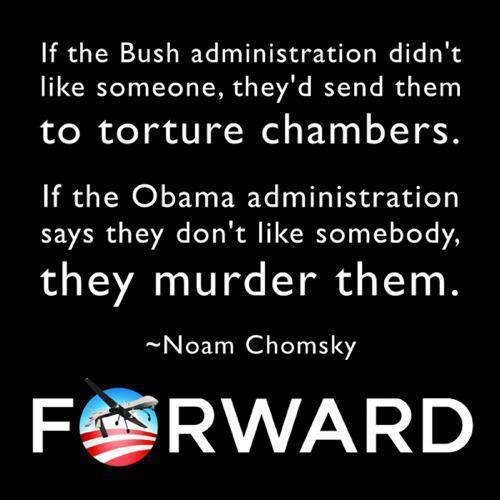 I tend to agree with Noam Chomsky on foreign policy.