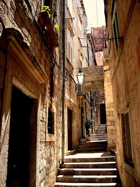 | ♕ |  Ancient passage - Dubrovnik, Croatia  | by © Ferry Vermeer