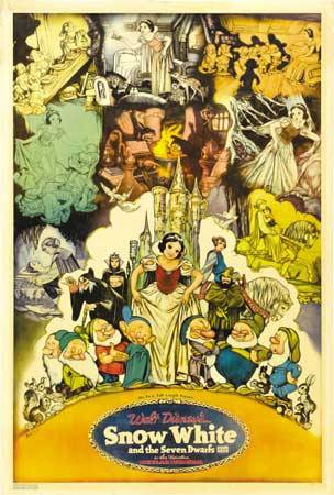 Incredible Poster Design 22: Snow White and the Seven Dwarfs (1937)