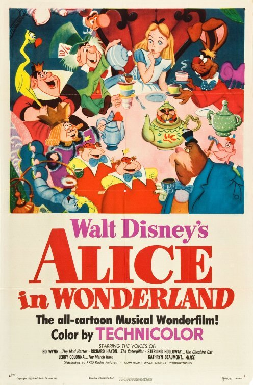 Incredible Poster Design 23 Alice in Wonderland (1951)