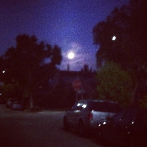 big ol full moon sure is purdy rising thru the clouds. (Taken with instagram)