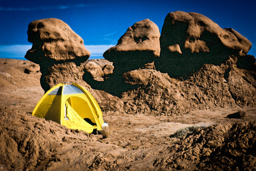 gordonfdooley:  Yellow Tent, Goblin Valley, Utah, 1996