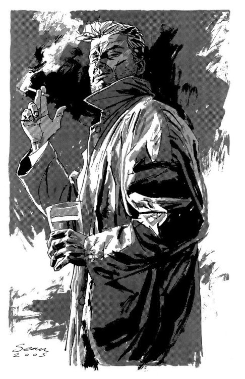 thehappysorceress:  John Constantine by Sean Phillips Magic Monday