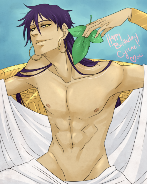BELATED BIRTHDAY GIFT TO CYRENE. Sinbad doesn't look like Sinbad in my style he just looks like a member of a harem