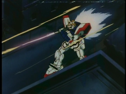fyeahcomicreviews:  Shining Gundam taking Vulcan fire