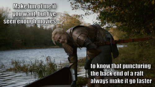 I lied, that wasn't the last one. I just couldn't pass up this Troy/Brienne opportunity.