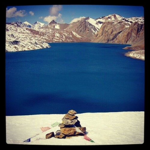 #beautiful Tilicho #lake located in manang district, #nepal. #mountain #snow #nature #purity #webstagram #instalike #instagram #instadaily #instalove #instalovers #photography #bestpic #awesome #beauty (Taken with instagram)