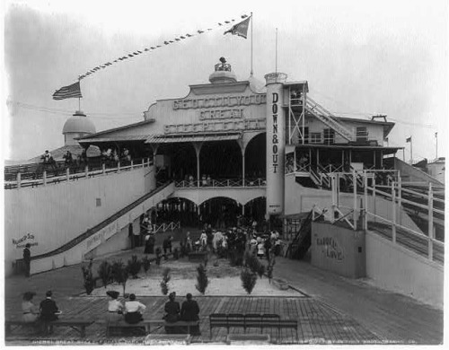 Entrance to Steeplechase Park at Coney Island, Brooklyn, New York, ca. 1910s. Source: Historic American Buildings Survey, Library of Congress