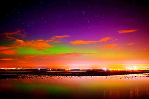 moonlightcity:  Northern Lights 002 - Aurora - Barassie Beach - 23/04/12 (by MJSFerrier)