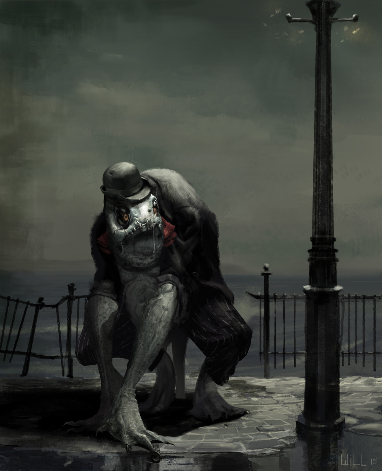 Shadow over Innsmouth is one of my favorite Lovecraft stories, and this picture is the best representation of a Deep One I've seen.