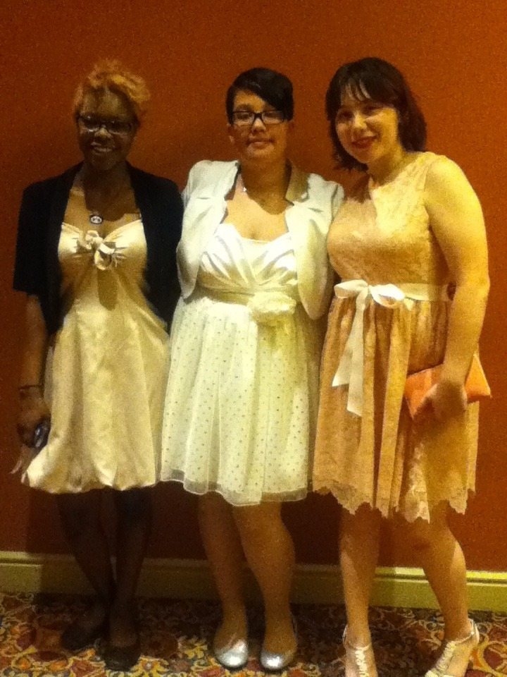 My friends Makayla, Melissa, and Lili at prom