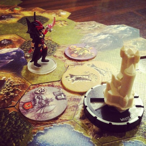 Mage Knight: Solo run #boardgames #gamenight  (Taken with instagram)