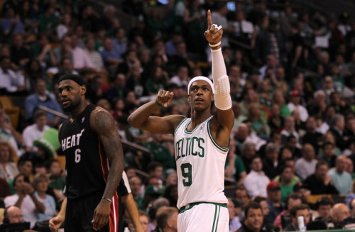 lovvvvvvve Rajon Rondo they beat the Heat last night, hope they win the series!