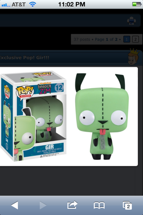 Can't wait to buy this POP!Vinyl =} I love GIR!!!!
