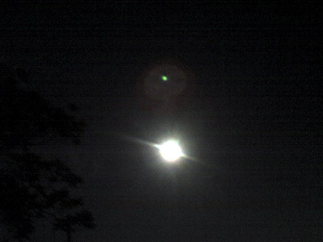 I tried to get a picture of the moon with my shitty camera and this is what I got. I know its not as cool as those HD shots but this would make a rad post card or something.