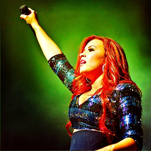 Demi Lovato in Concert #14. (Edited by me) please REBLOG instead of reposting. Or credit me at least.