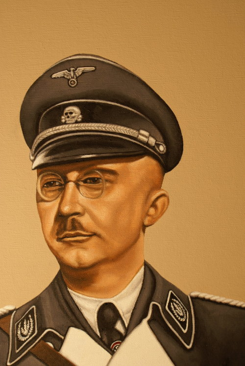 Heinrich Himmler Painting 10 by ~joshsass2 Oh yes, and because being nazi and Reichsführer it's just too mainstream, meet Hipster Himmler