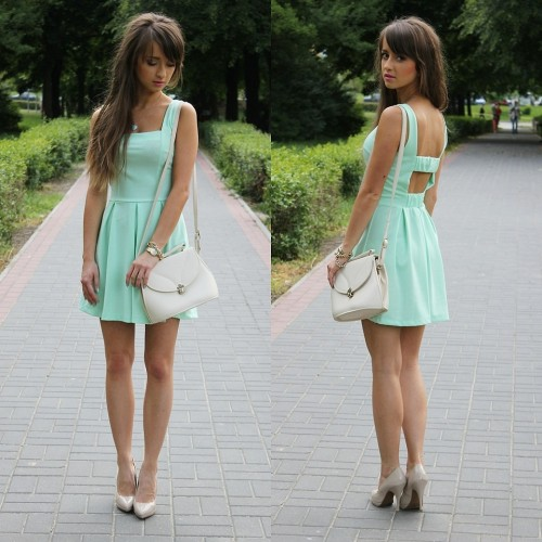 lookbookdotnu:  Mint dress* (by Alexandra M)