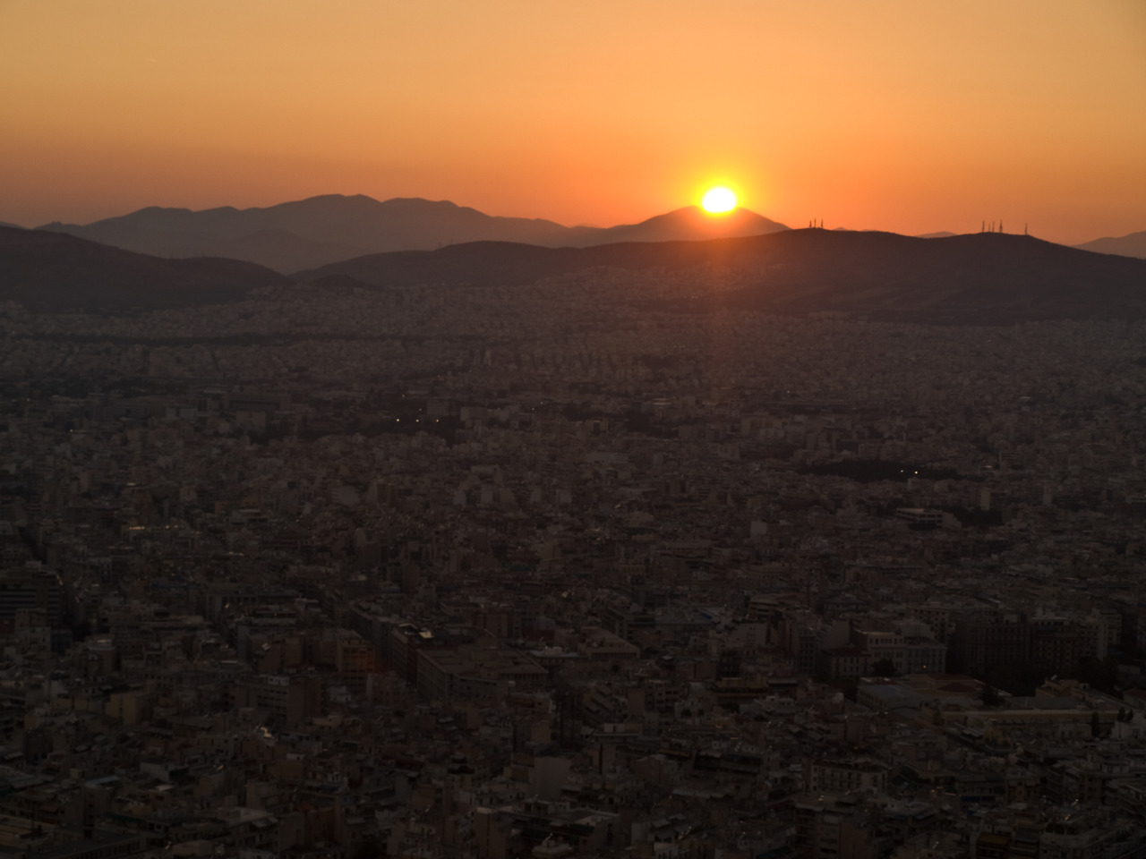 Goodnight, Athens The view from Lykavittos Hill is amazing.
