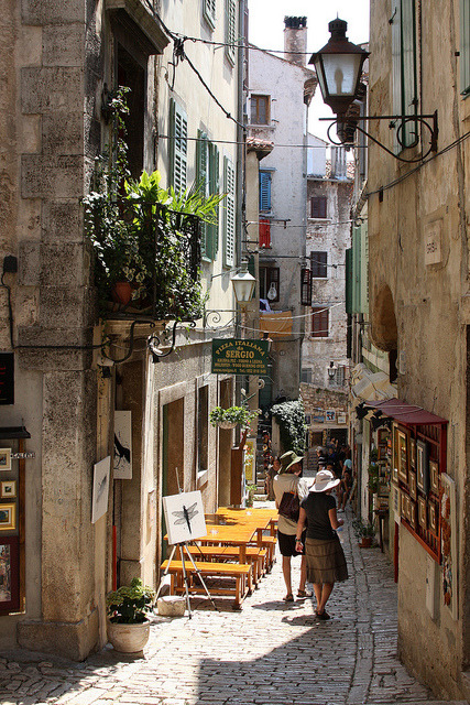 ysvoice:  | ♕ |  Old Town alley - Rovinj, Croatia  | by © Jim Hart