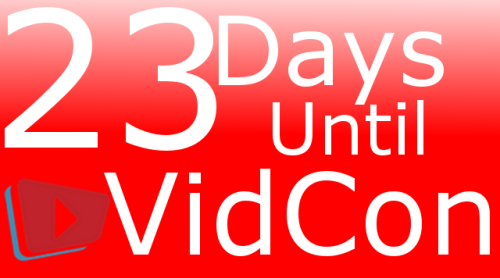 Oh hey change of plans (again) and I actually WILL be at Vidcon this year. (Only on Saturday, though)