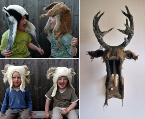 muhuhu:  Barbara Keal's Animal Felt Hats | Trendland: Fashion Blog & Trend Magazine