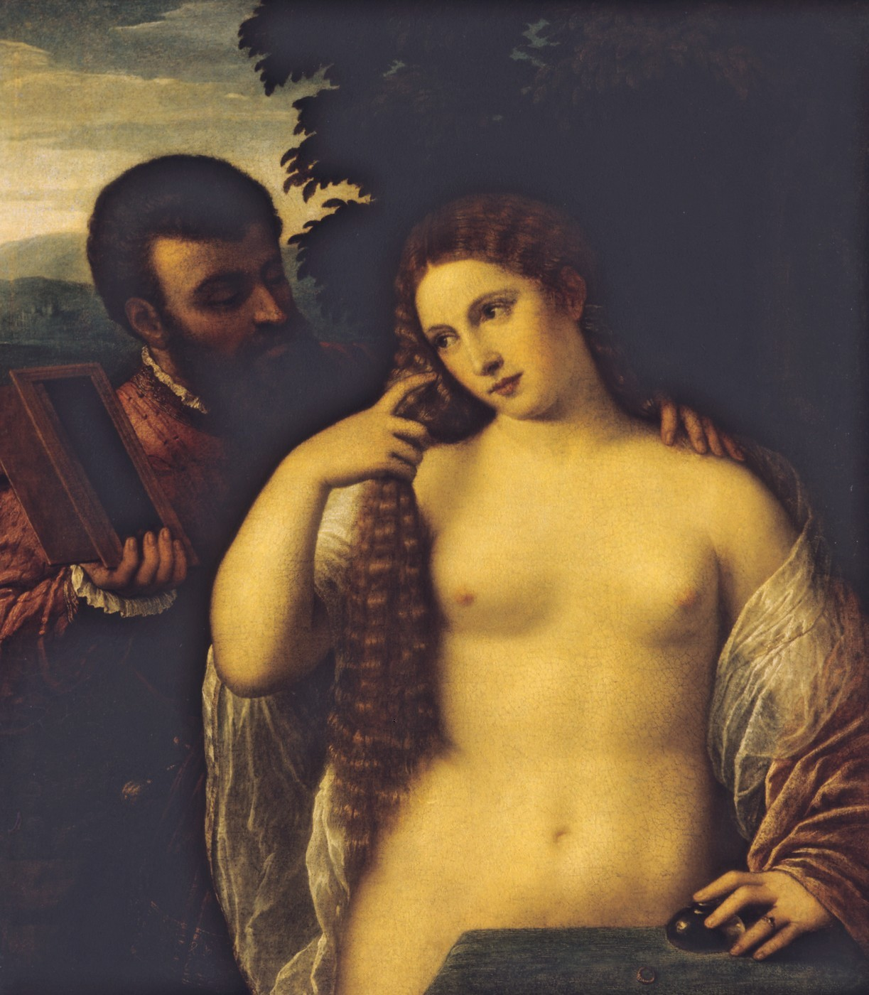 Allégorie (Alfonso d'Este et Laura Diante) attribué à Titian  (Source : National Gallery of Art (Washington) via Bildindex).