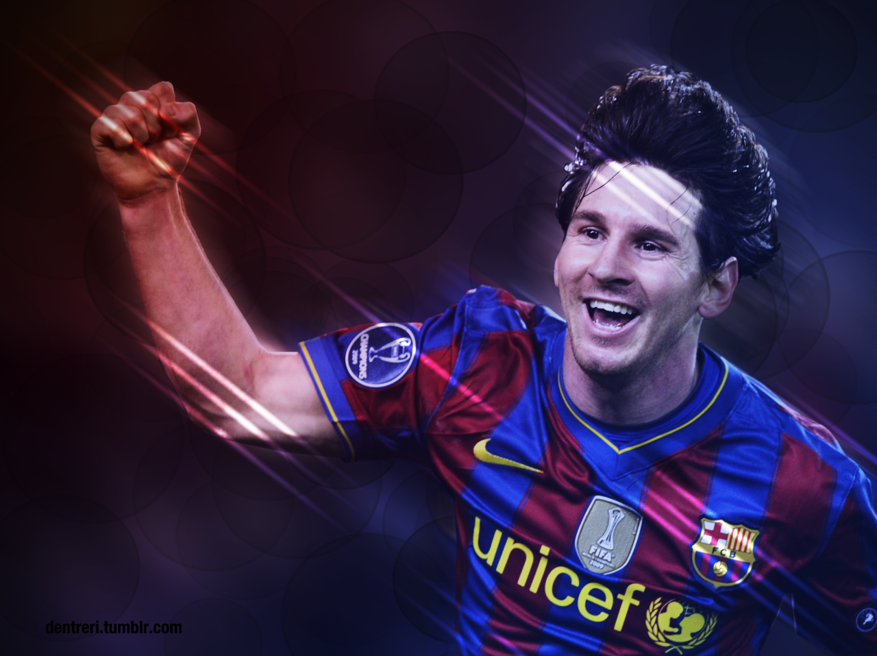 Random picture of Messi I made. Played around with the gradient tool quite a bit.