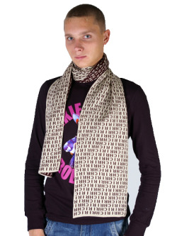 Richmond Spiffy Designer Brown/ Beige Unisex Double Sided ScarfMore photos & another fashion brands: bit.ly/JFodWc