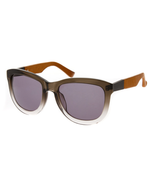The Row Grey Leather Wayfarer SunglassesMore photos & another fashion brands: bit.ly/JgPZsW