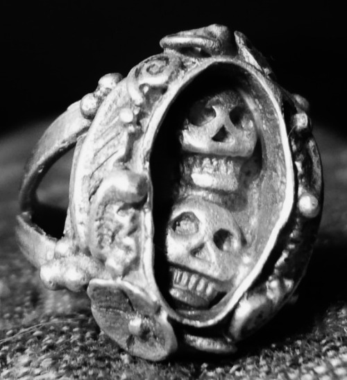 Memento Mori Day of the Dead Lover's Ring on Etsy