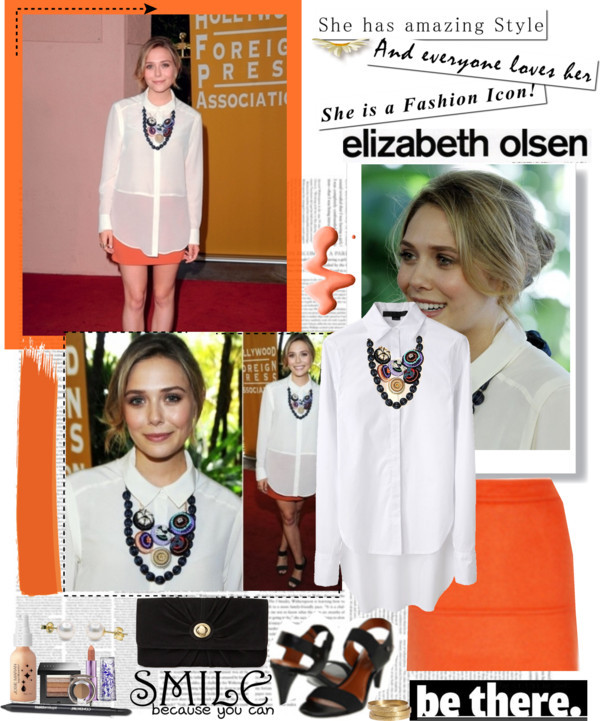 Elizabeth Olsen by mako87 featuring velvet bagsAlexander Wang long sleeve blouse, $163Friis Company velvet bag, €26Stud earringsJigsaw bangle jewelry, £39Nail polish, £12