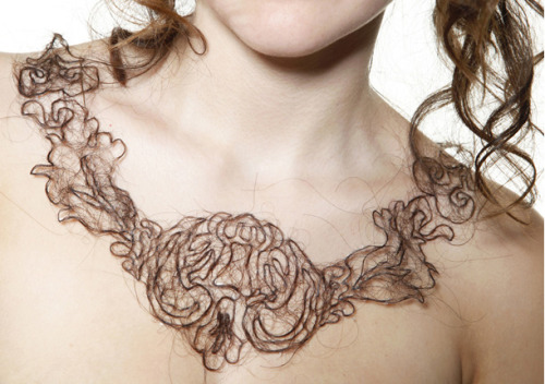 (via Human Hair Necklaces by Kerry Howley » Design You Trust – Design Blog and Community)