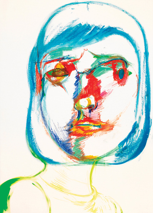 Hyunjhin BaikMassive Make-up. 2006acrylic, oil crayon, crayon on paper75x54.5cm VIA
