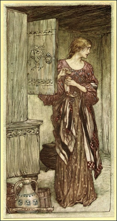 littlecarmesina:  Arthur Rackham. Illustration from The Valkyrie