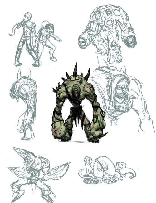 did some designs for infected monsters.