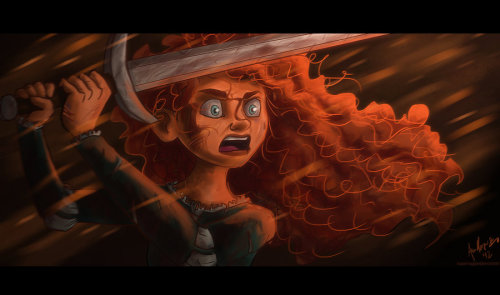 There you go, obnoxiously badass Merida. 8'T Photoshop CS5, Bamboo Pen Tablet, ~2 hours