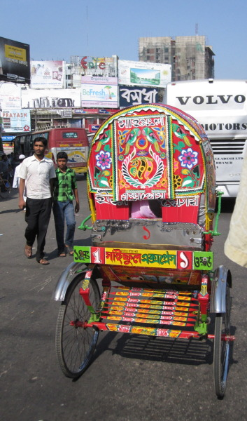 The rickshaws around the Chit are looking fancy these days…!