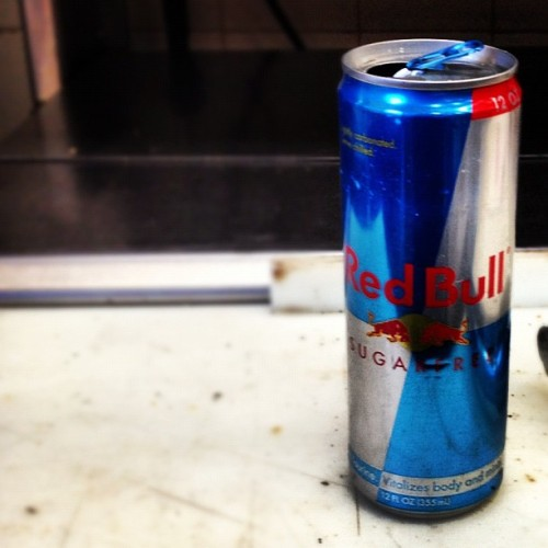 Don't fail me know #redbull #work (Taken with instagram)