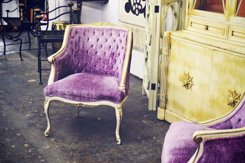 Purple & Yellow are like Burt & Ernie… Again & Again Furniture Store seems to be a wonderful place, can it be mine? Follow canitbemine for happiful posts! (via Sea of Shoes: FURNITURE SHOPPING)